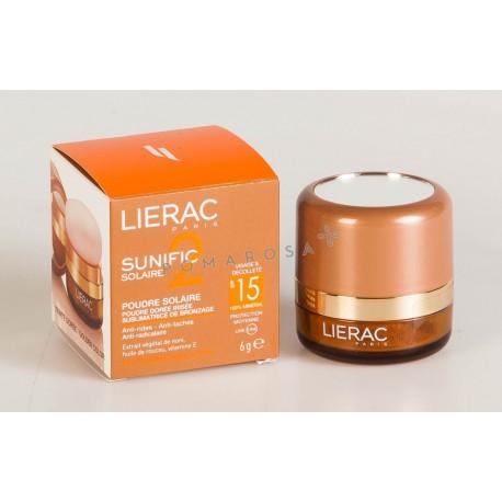 Lierac Sunific 2 Poudre Solaire Dorée Irisée Spf 15 6 Gr