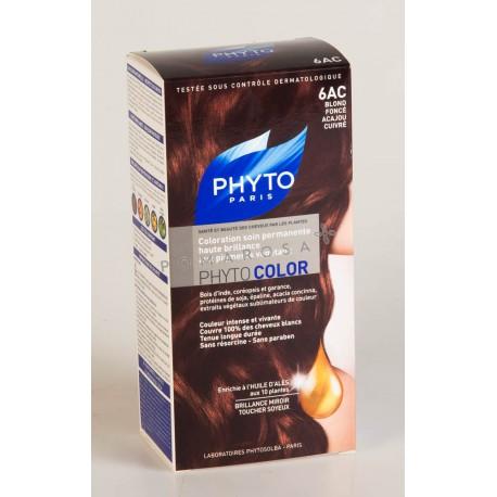 Phyto Phytocolor Coloration Permanente 6AC Blond Foncé Acajou Cuivré