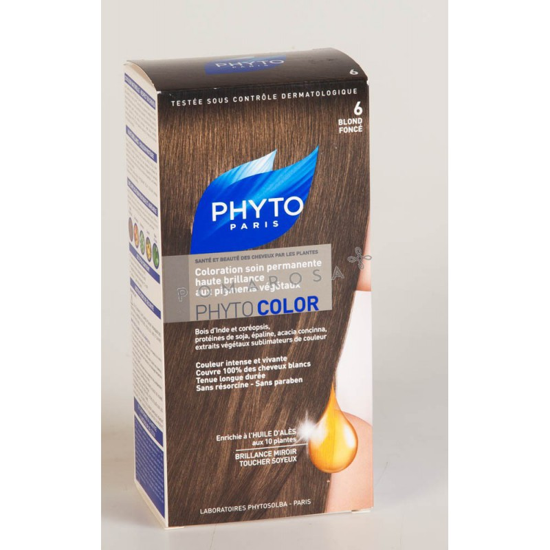 phyto phytocolor coloration permanente 6 blond fonc - Colorations Phyto