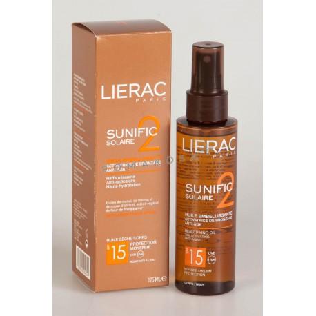 Lierac Sunific 2 Solaire Huile Activatrice de Bronzage Spf 15 125 ml