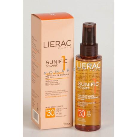 Lierac Sunific 1 Solaire Huile Satinante Activatrice de Bronzage Spf 30 125 ml