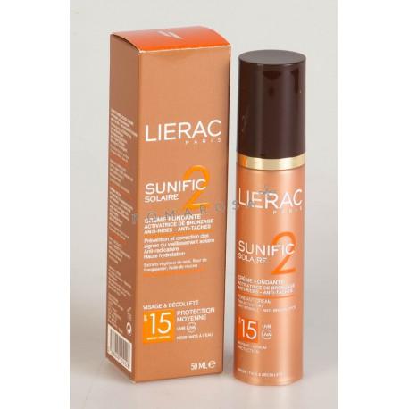 Lierac Sunific 2 Solaire Crème Fondante Anti-Rides Spf 15 50 ml