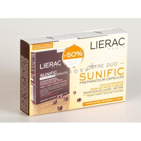 Lierac Sunific Préparateur Capsules Bronzage Lot 2 X 30 Capsules