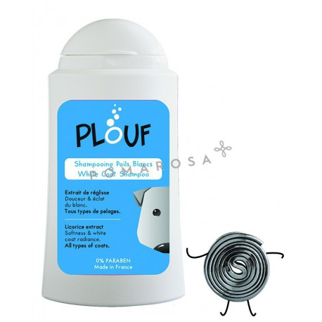 Plouf Shampooing Chien Poils Blancs à la Réglisse 200 ml