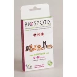 Biospotix Pipettes Anti-Puces Anti-Tiques Petit et Moyen Chien X 5