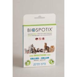 Biospotix Collier Anti-Puces Tiques et Moustiques Chat