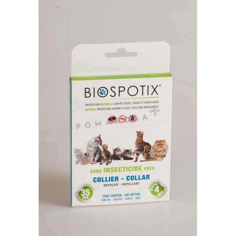 biospotix collier anti puces tiques et moustiques chat. Black Bedroom Furniture Sets. Home Design Ideas