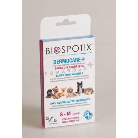 Biospotix Dermocare + 3 Pipettes Petit et Moyen Chien -20 Kg