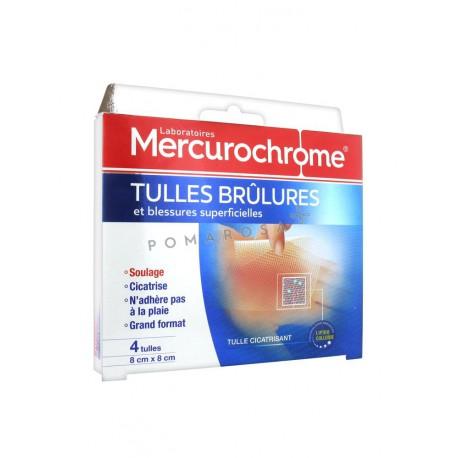Mercurochrome Tulles Brûlures 4 Unités