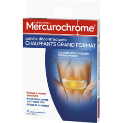 Mercurochrome Patchs Décontractants Chauffant Grand Format X 2