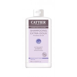 Cattier Shampooing Extra Doux Usage Quotidien 1 L