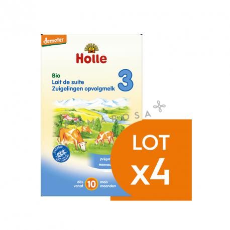 Holle Lait de Suite 3 Bio Dès 10 Mois Lot 4 X 600 gr
