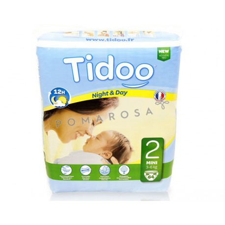 Tidoo Couches Jetables Écologiques Night & Day 2 Mini 3 - 6 kg