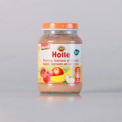 Holle Petit Pot Pomme Banane et Abricot 190 gr