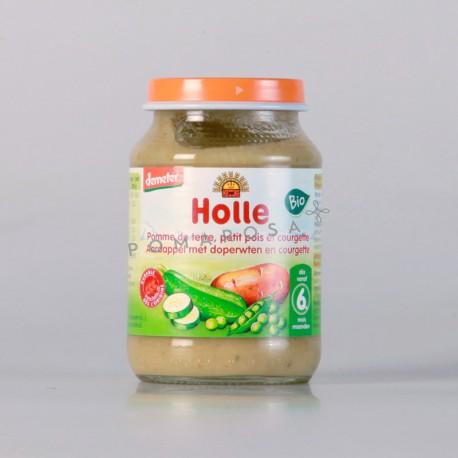 Holle Petit Pot Pomme de Terre Petit Pois et Courgette 190 gr