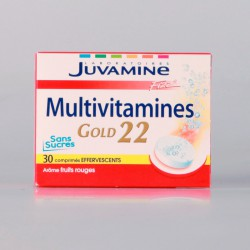 Juvamine Fizz Multivitamines Gold 22 30 Comprimés Effervescents
