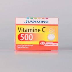 Juvamine Vitamine C 500 Sans Sucres 30 Comprimés Effervescents