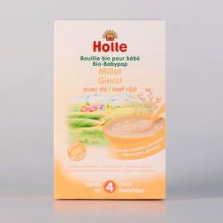 Holle Bouillie Millet pour Bébé dès 4 Mois 250 Gr