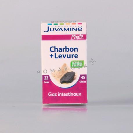 Juvamine Charbon + Levure 45 Gélules