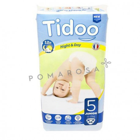 Tidoo Couches Jetables Écologiques Night & Day 5 Junior 12 - 25 Kg