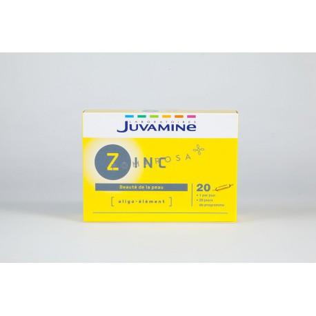 Juvamine Zinc Beauté de la peau 20 ampoules 5ml