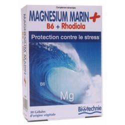 Biotechnie Magnésium Marin + B6 + Rhodiola 30 Gélules
