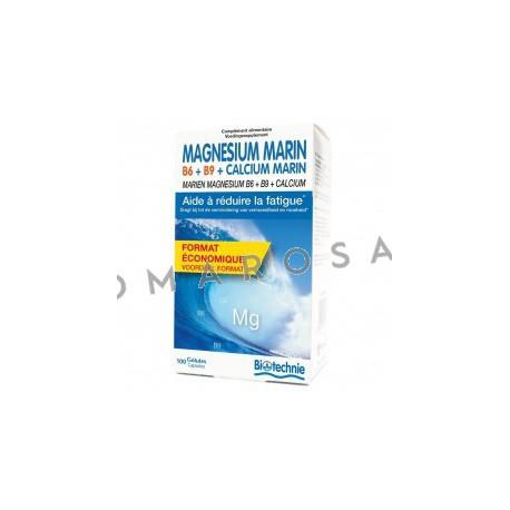 Biotechnie Magnésium Marin B6 Bio 100 Gélules