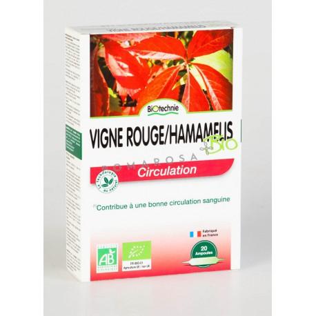Biotechnie Vigne Rouge Hamamélis Bio 20 Ampoules