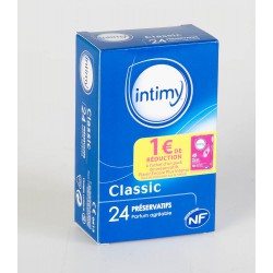 Intimy 24 Préservatifs Classic Lubrifiés