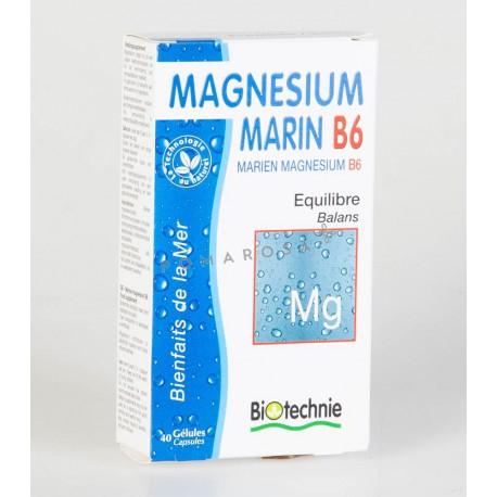 Biotechnie Magnésium Marin B6 Bio 40 Gélules