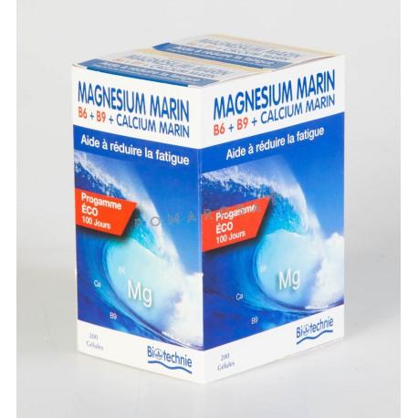 Biotechnie Magnésium Marin B6 Bio Lot de 2 X 100 Gélules