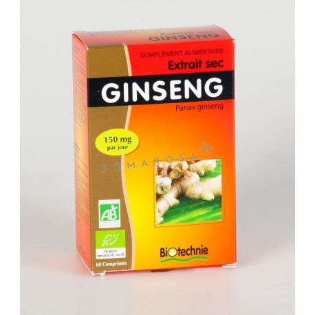Biotechnie Extrait sec de Ginseng Bio 60 Comprimés