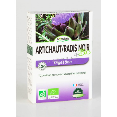 Biotechnie Artichaut Radis Noir 20 Ampoules