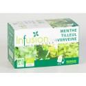 Biotechnie Infusion Bio Menthe Tilleul Verveine 20 Sachets