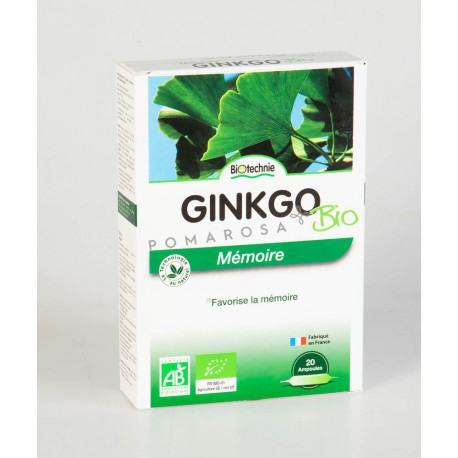 Biotechnie Ginkgo Biloba Bio 20 Ampoules