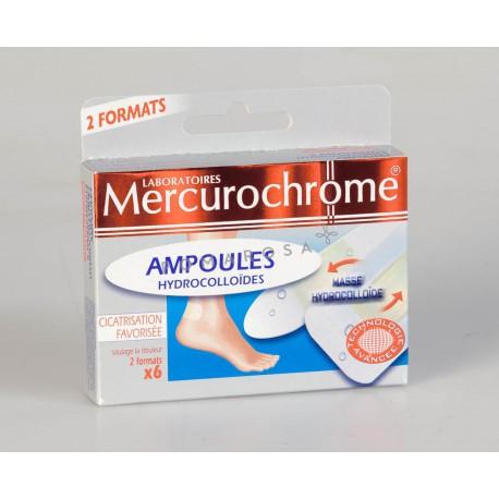 Mercurochrome Pansements Hydrocolloïdes Ampoules 6 Unités