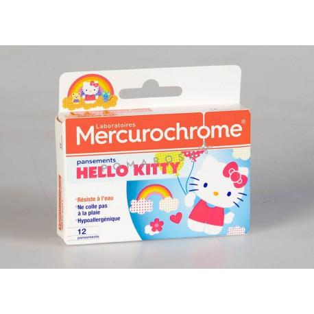 Mercurochrome Pansements Hello Kitty 12 Unités