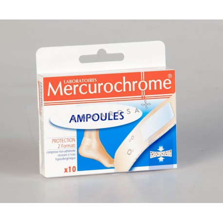 Mercurochrome Pansements Ampoule-Protection 10 Unités
