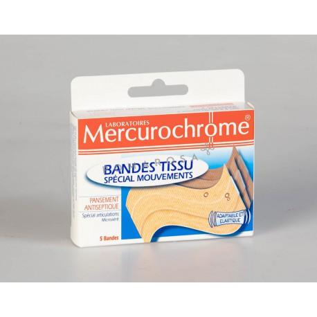 Mercurochrome Bande Tissu Spécial Mouvements 10 x 6 cm 5 Unités