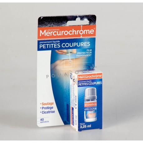 Mercurochrome Pansement Liquide Petites Coupures 3,25 ml
