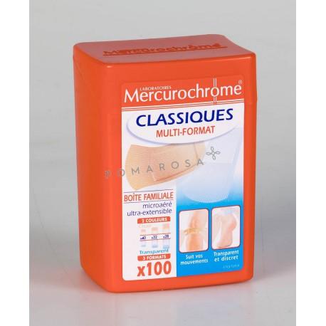 Mercurochrome Boite Pansement Mix Classiques 100 unités