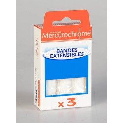 Mercurochrome Bandes Extensibles 2 m x 7 cm 3 Unités