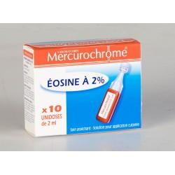 Mercurochrome Eosine à 2% 10 Unidoses stériles de 2 ml