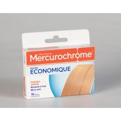 Mercurochrome Bande à Découper Economique 10 x 6 cm 10 Unités