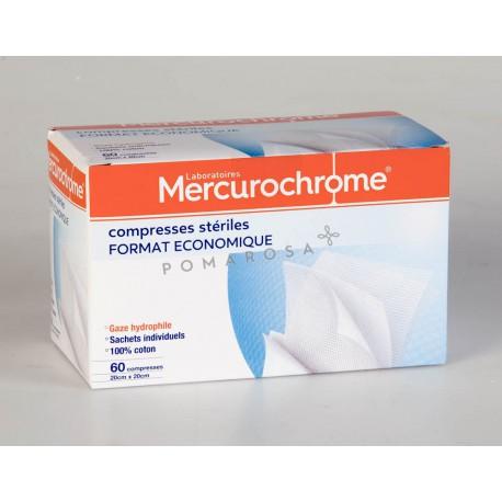 Mercurochrome Compresses Stériles 20 x 20 cm 60 Unités