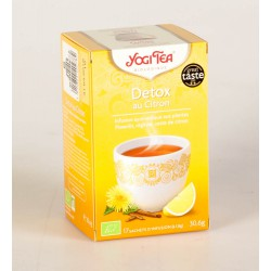 Thé Yogi Tea Detox au Citron 17 Sachets