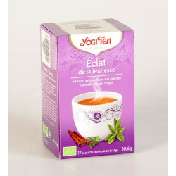 Thé Yogi Tea Eclat de la Jeunesse 17 Sachets