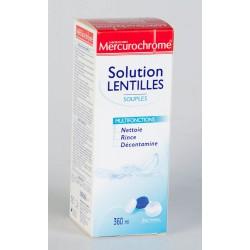 Mercurochrome Solution Lentilles Souples Multifonctions 360 ml