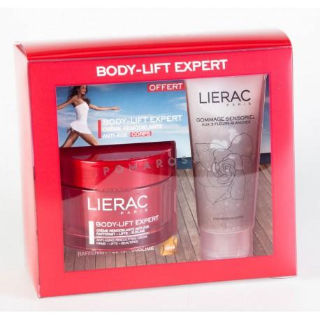 Lierac Coffret body Lift Expert Crème remodelante anti-âge 200 ml + gommage sensoriel 100ml