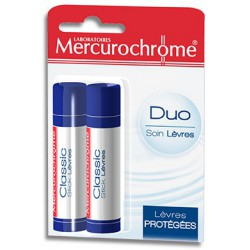 Mercurochrome Stick à Lèvres Duo 2 x 4,25 Gr